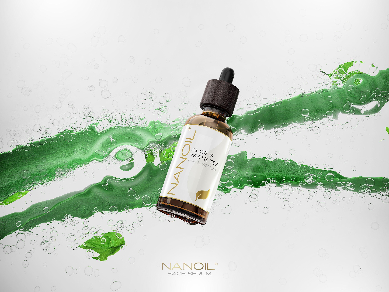 To serum zmienia oblicze! Nanoil Face Serum Aloe Vera & White Tea – cera jak nowa